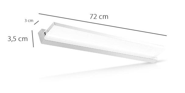 Kinkiet LED 12W 72 cm model: M1858