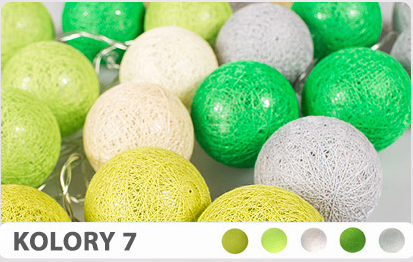 10 kul K7 Bateria Cotton Balls DEKORACYJNE kule lampki LED