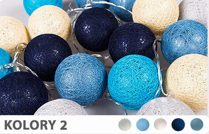 35 kul K2 Sieciowe Cotton Balls DEKORACYJNE kule lampki LED