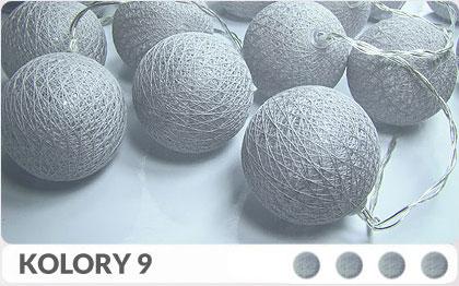 35 kul K9 Sieciowe Cotton Balls DEKORACYJNE kule lampki LED