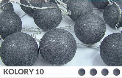 35 kul K10 Sieciowe Cotton Balls DEKORACYJNE kule lampki LED