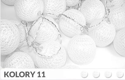 35 Kul K11 Sieciowe Cotton Balls Dekoracyjne Kule Lampki Led