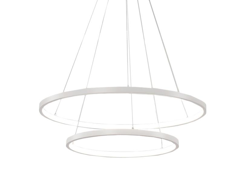 Żyrandol ringi lampa okręgi obręcze LED 40 + 60cm 45W