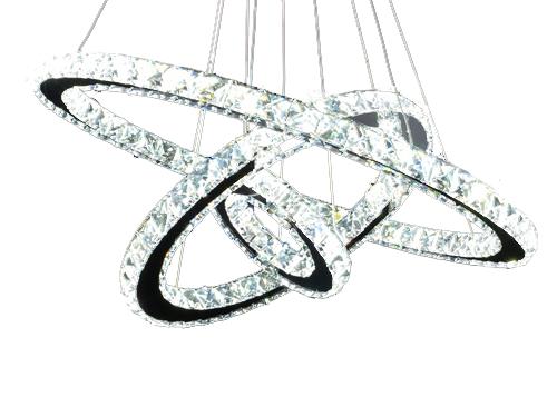 Żyrandol ringi lampa pierścienie 75W 70cm CL611