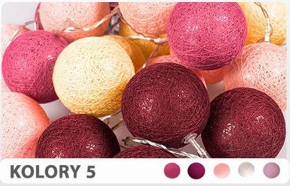 10 Kul K5 Bateria Cotton Balls Dekoracyjne Kule Lampki Led
