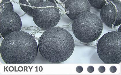 20 kul K10 Bateria Cotton Balls DEKORACYJNE kule lampki LED