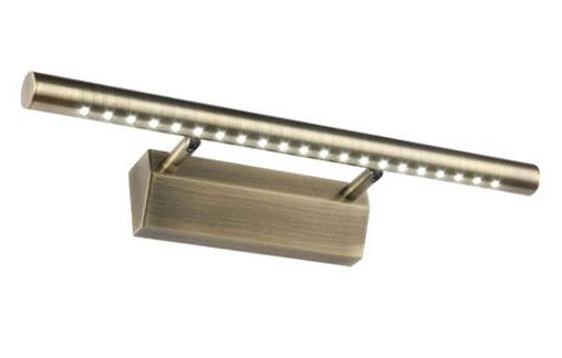 Kinkiet LED nad obraz lustro złoty 15W