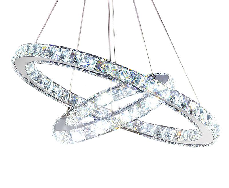 Żyrandol ringi lampa okręgi obręcze 48W 60cm CL611