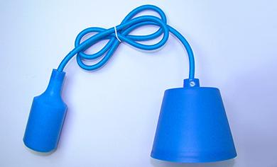 LAMPA WISZĄCA SUFITOWA SILIKONOWA OPRAWA ZWIS LOFT Niebieska