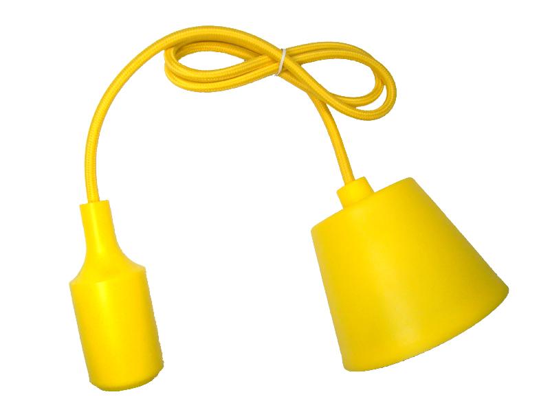 LAMPA WISZĄCA SUFITOWA SILIKONOWA OPRAWA ZWIS LOFT Żółta