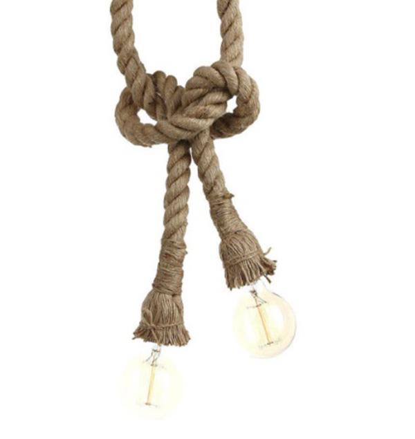 LAMPA sufitowa retro loft vintage sznur podwójna