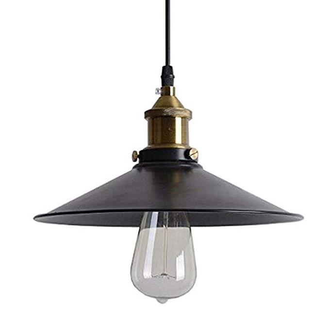 żyrandol loft LAMPA sufitowa czarna złota metal
