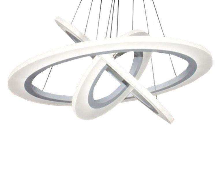 Żyrandol lampa okręgi obręcze LED 20+40+60cm /1898