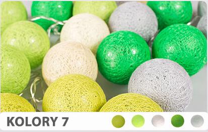 35 kul K7 Sieciowe Cotton Balls DEKORACYJNE kule lampki LED