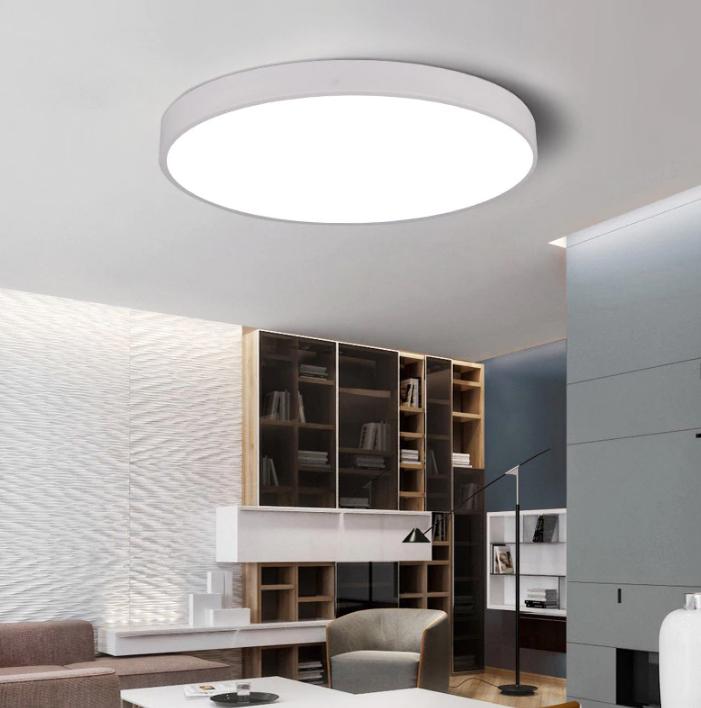 nowoczesna lampa plafon okrąg LED cienka sufitowa biała
