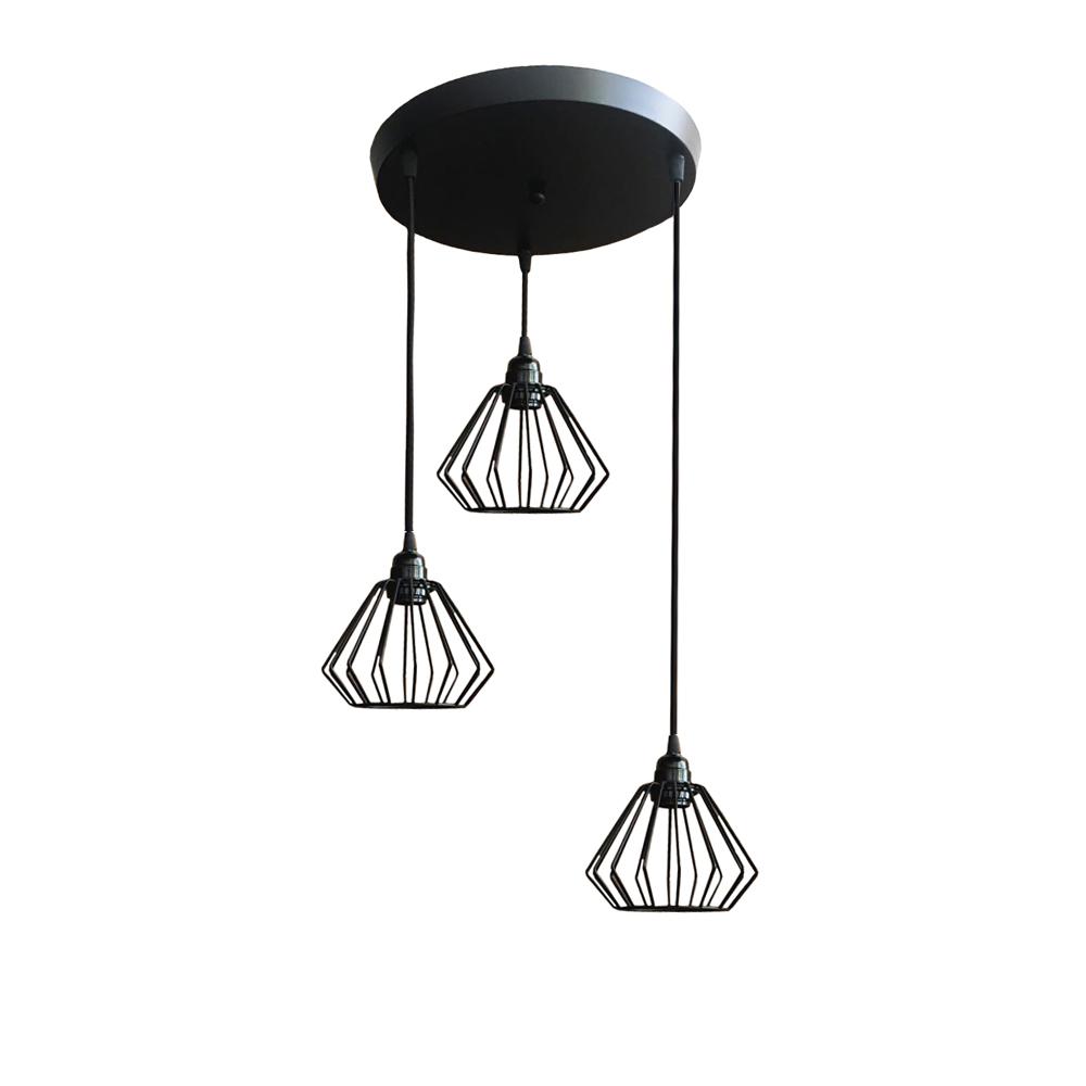 lampa wisząca sufitowa żyrandol brylant drut