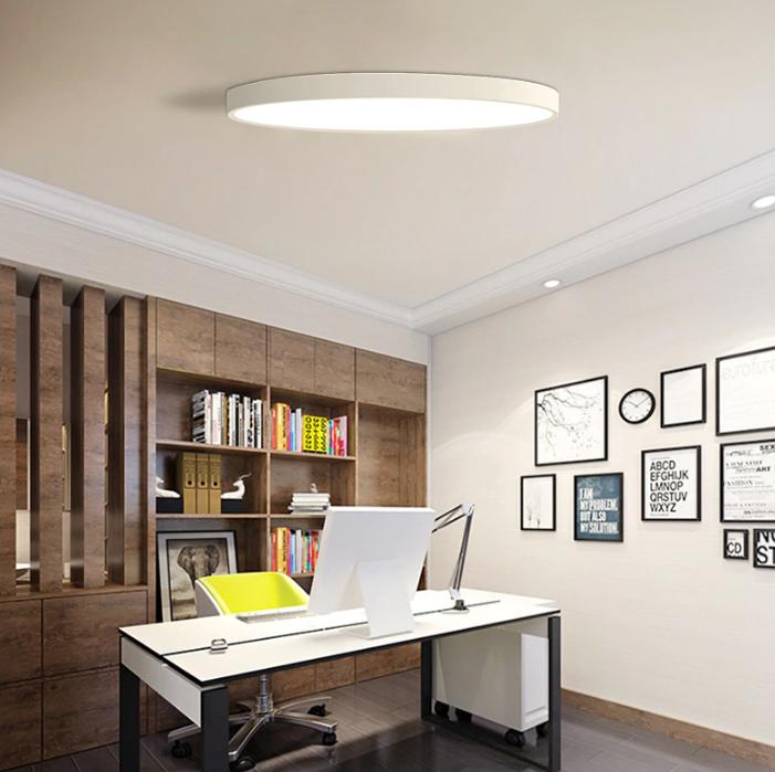 sufitowa nowoczesna cienka lampa okrąg plafon LED