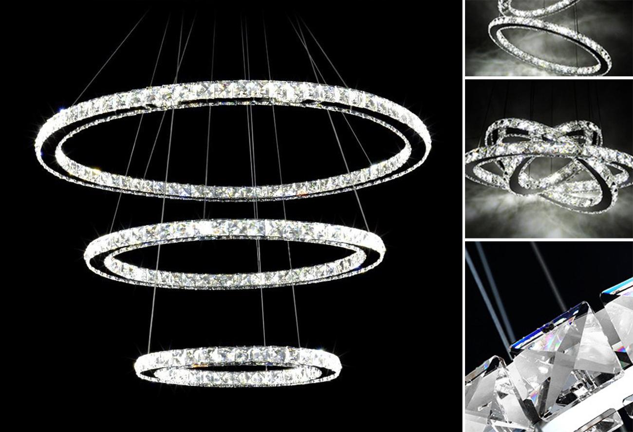 Żyrandol ringi lampa pierścienie 75W 70cm