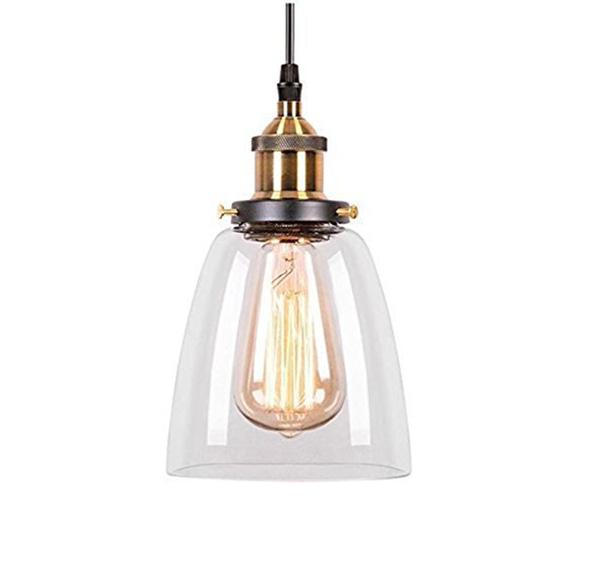LAMPA wisząca industrialna retro loft szkło klosz