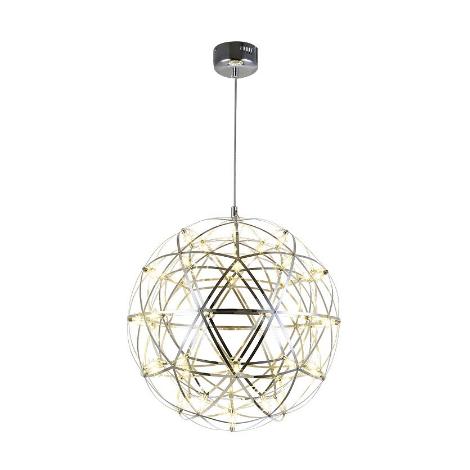 lampa ŻYRANDOL kula LED srebrna druty metal 50cm