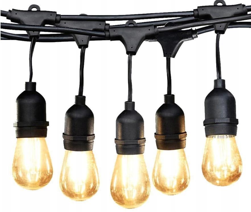 GIRLANDA lampki ogrodowe IP65 5m łańcuch sznur