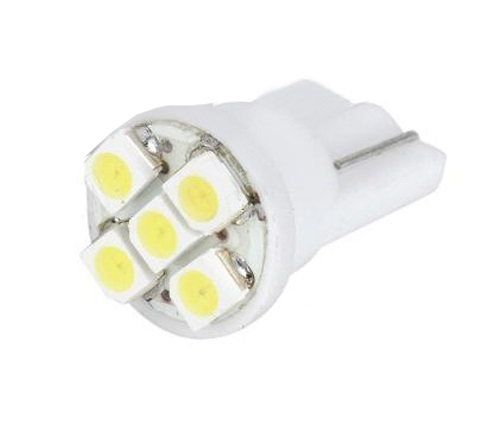 Żarówka - barwa zielona T10 5 LED LB02