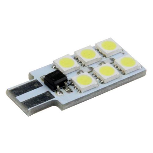 Żarówka - barwa niebieska T10 6 LED Non-polar  LB24