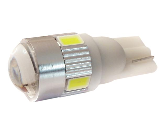 Żarówka T10 6 LED lense white LB89