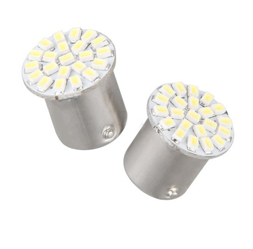 Żarówka - barwa żółta P21W 22 LED LF01