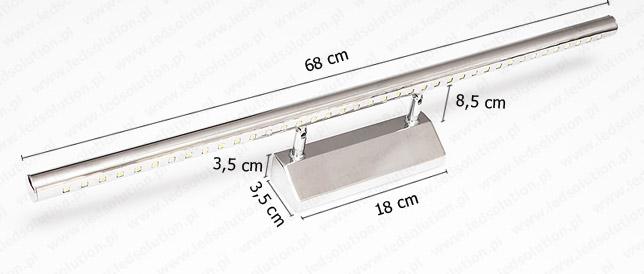 Kinkiet LED 9W 68 cm