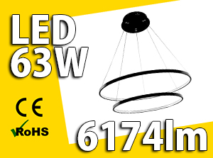 Żyrandol ringi 63W LED - W sklepie Led Solution