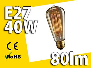 Żarówka EDISONA E27 40W - W sklepie Led Solution
